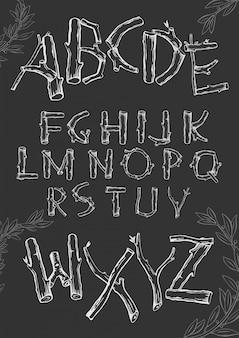Lettertype van de takken.