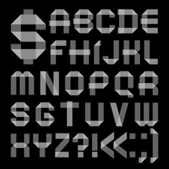 Lettertype van plakband - romeins alfabet