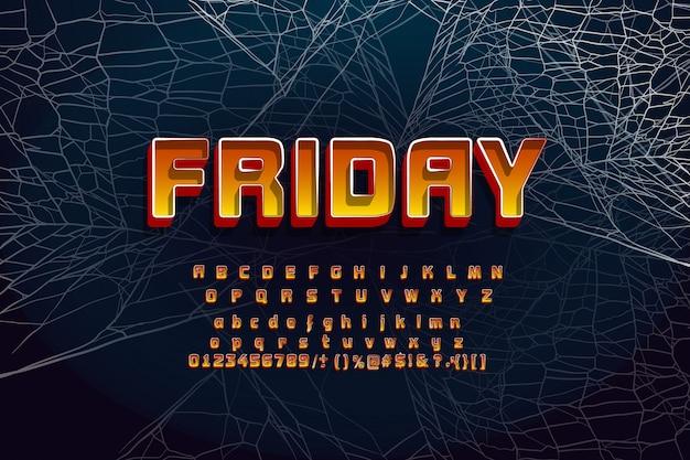 Lettertype voor halloween