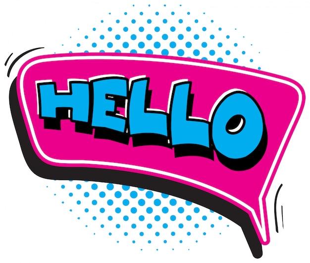 Lettertype voor woord hallo
