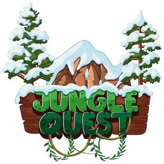 Lettertype voor woord jungle quest