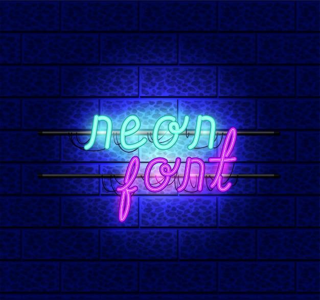 Lettertypen neonlichten pictogrammen
