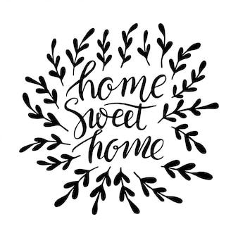 Lettertypen van sweet home