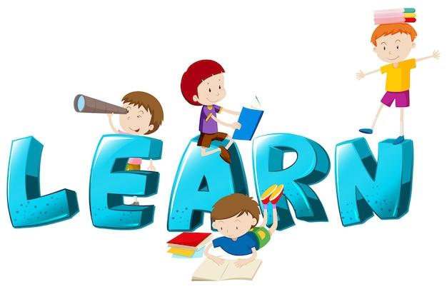 Lettertypeontwerp voor het leren van woorden