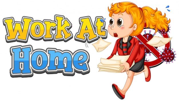 Lettertypeontwerp voor werk thuis met onderneemster en dossiers