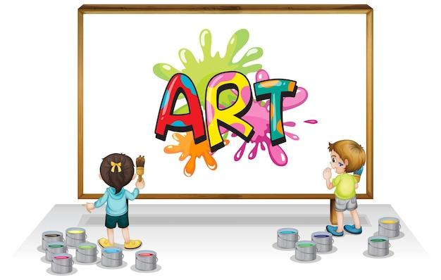 Lettertypeontwerp voor woordkunst op whiteboard