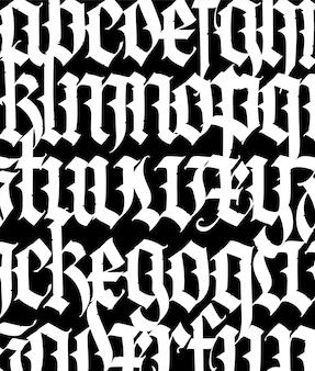 Lettertypepatroon middeleeuws gotisch europees modern gotisch