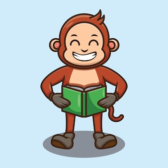 Leuk aap leesboek ontwerp