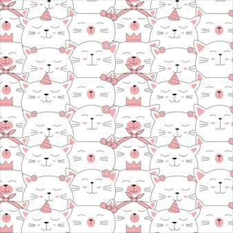 Leuk baby dierlijk naadloos patroon