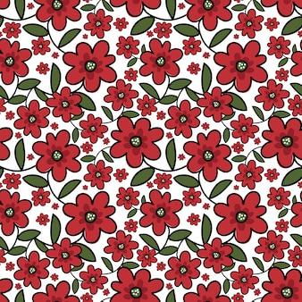 Leuk bloemen naadloos patroon.
