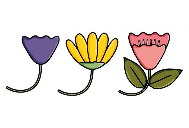 Leuk bloementuin decoratief pictogram