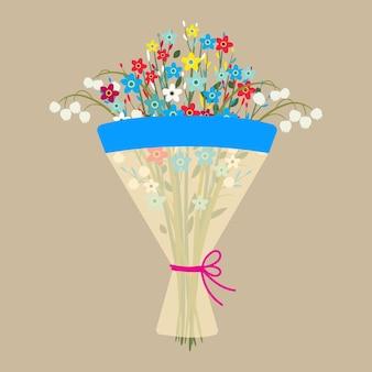 Leuk boeket bloemen.