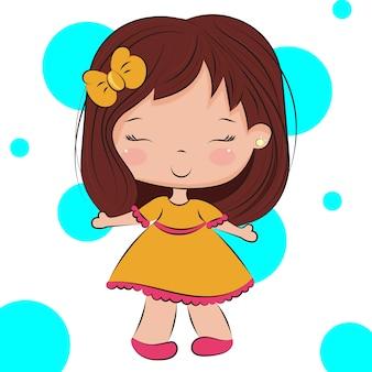 Leuk chibi-meisje