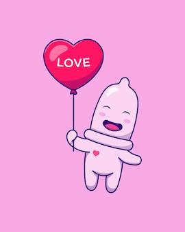 Leuk condoom dat met ballon vliegt