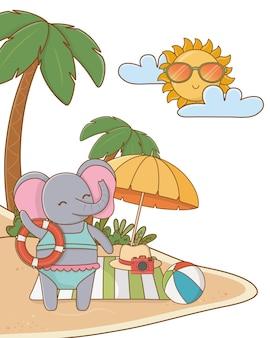 Leuk dier die de zomer van vakanties genieten