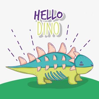 Leuk dinosaurusdier van het ankylosauruswild