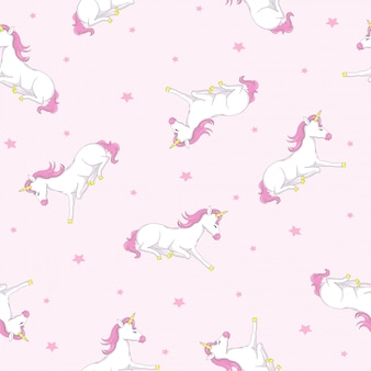 Leuk eenhoorn naadloos patroon