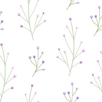 Leuk en eenvoudig bloemknoppen naadloos patroon.