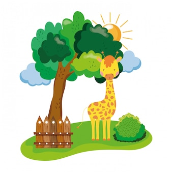 Leuk en klein giraffekarakter