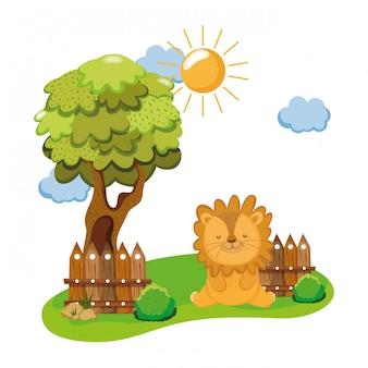 Leuk en klein leeuwenkarakter