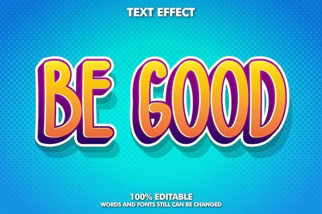 Leuk en speels cartoon lettertype effect