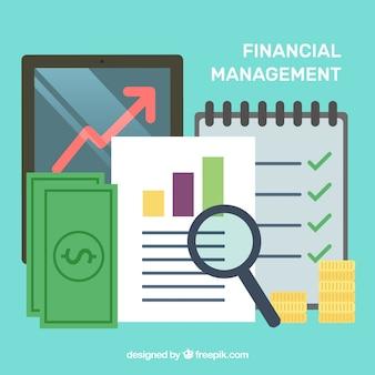 Leuk financieel concept met vlak ontwerp
