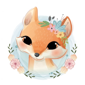 Leuk foxy-portret