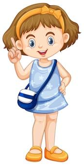 Leuk gelukkig glimlachend kind dat op wit wordt geïsoleerd