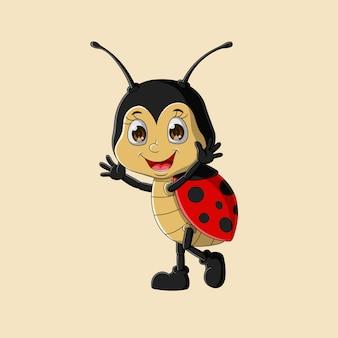 Leuk gelukkig lieveheersbeestje