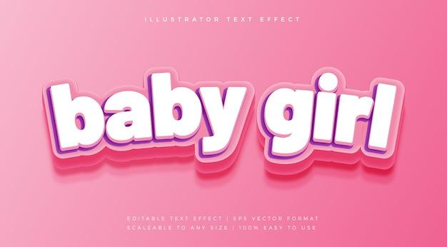 Leuk girly-tekststijl lettertype-effect