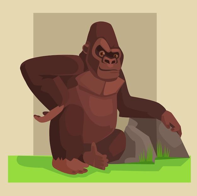 Leuk gorilla-karakter. tekenfilm