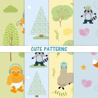 Leuk grafische de illustratie grafisch ontwerp van dierenpatronen