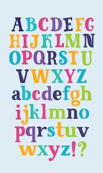 Leuk grappig kinderachtig alfabet