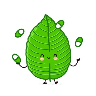 Leuk grappig kratom blad jugging pillen karakter