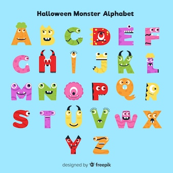 Leuk halloween-monsteralfabet