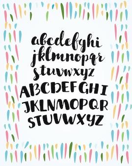Leuk handgetekend alfabet