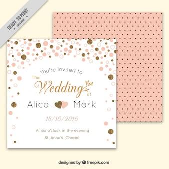 Leuk huwelijk kaart met confetti