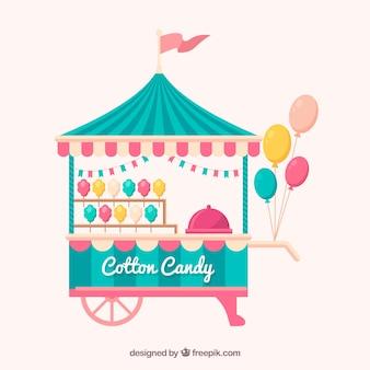 Leuk katoen candy cart met ballonnen