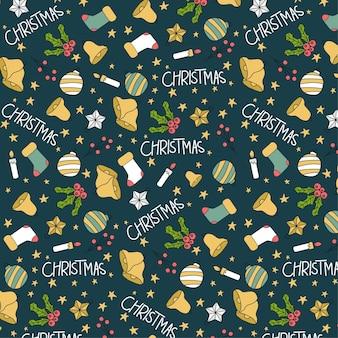 Leuk kerst naadloos patroon