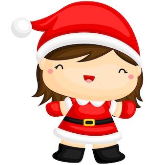 Leuk kerstmeisje