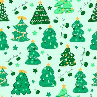 Leuk kerstmispatroon met elementen