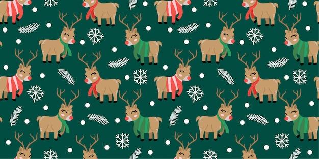 Leuk kerstpatroon doodl