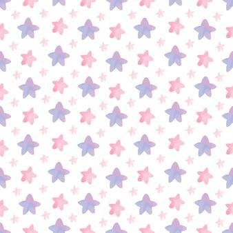 Leuk kinderkamerpatroon met sterren