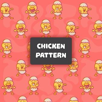 Leuk kippen naadloos patroon