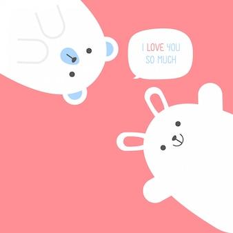 Leuk klein paar, valentijnsdag