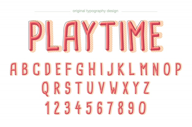 Leuk komisch typografieontwerp