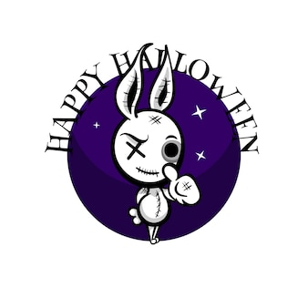Leuk kwaad konijn halloween woodoo naaispeelgoed