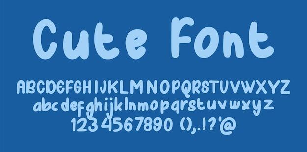 Leuk lettertype alfabet