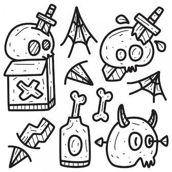 Leuk monster karakter ontwerp