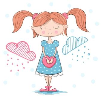 Leuk, mooi meisje met een groot hart